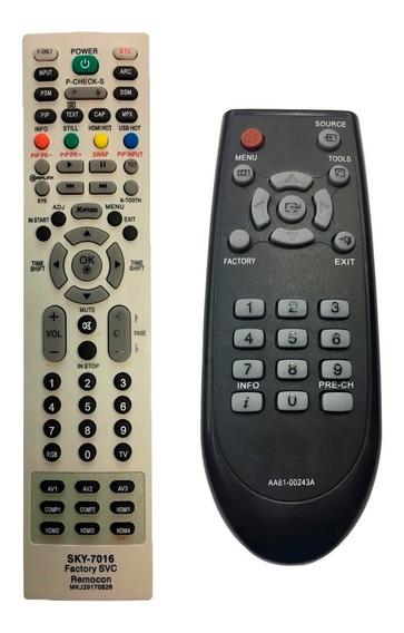 Controle Remoto De Serviço Para Tv Lg + Samsung Kit + Pilhas
