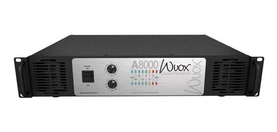 Machine Wvox A8000, 2000watts,4ohms, Nova E Nf. Brinde