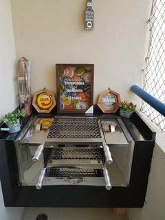 Churrasqueira Ecológica Para Apartamentos Sem Fumaça