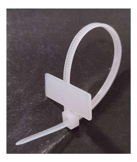 Kit Com 100 Abraçadeira De Identificação Fibra Optica 25x8mm