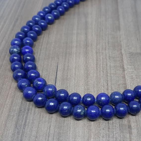 Fio De Lápis Lazuli Esferas 8mm - Qualidade Extra - Atacado