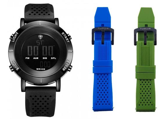 Relógio Digital Original C/ Caixa + Pulseiras Brinde Confira