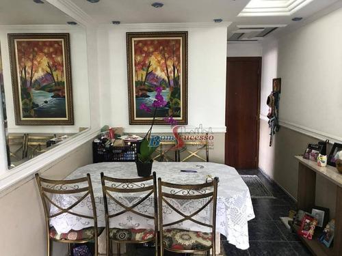 Apartamento Com 3 Dormitórios À Venda, 65 M² Por R$ 460.000,00 - Jardim Anália Franco - São Paulo/sp - Ap2643