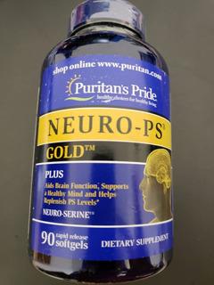 Fosfatidilserina Neuro Ps Gold 90 Caps Puritans Pride Usa