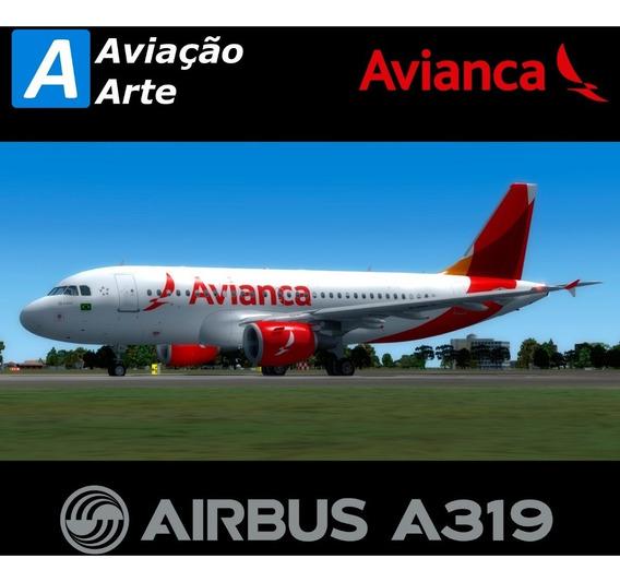 Aeronave Fsx - Frota Avianca Brasil - Airbus A319