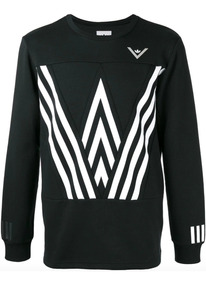 Blusa adidas Originals Crew Sweat White Mountaineering Preta