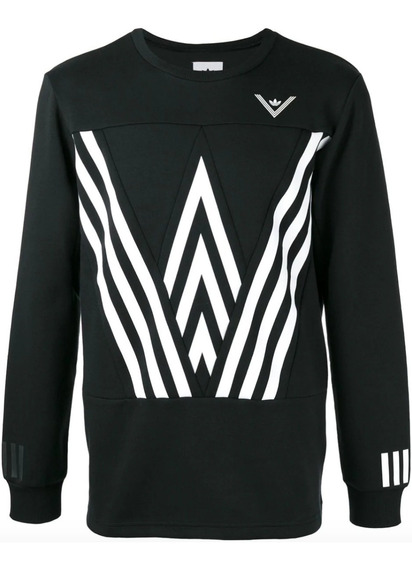 Blusa adidas Originals Crew Sweat White Mountaineering Preta