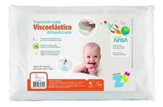 Travesseiro Nasa Baby Antissufocante Capa Removível Fibrasca