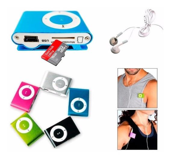 Mp3 Shuffle + Audifonos Y Cargador Somos Tienda Cod 736