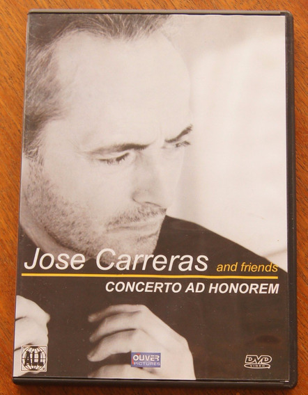 Dvd Jose Carreras And Friends - Concerto Ad Honorem