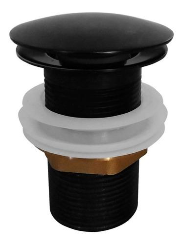 Válvula Banheiro Inox Click Popup Preta Fosca Black Matte