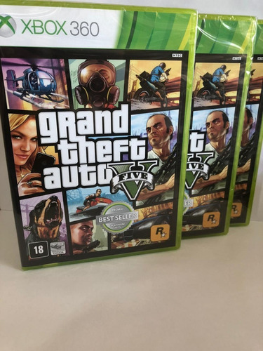Jogo Gta Xbox V 360 Mídia Física Original Lacrado 2 Cd
