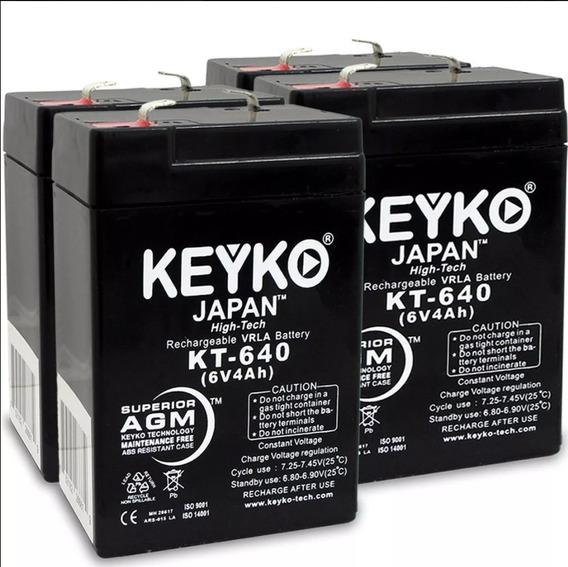 Batería Pilas 6v 4amp Lámparas Seguridad Y Motos De Juguetes