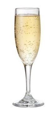 Vaso Copa Vidrio Champagne 186cc Cristar Aragon X6 Unidades