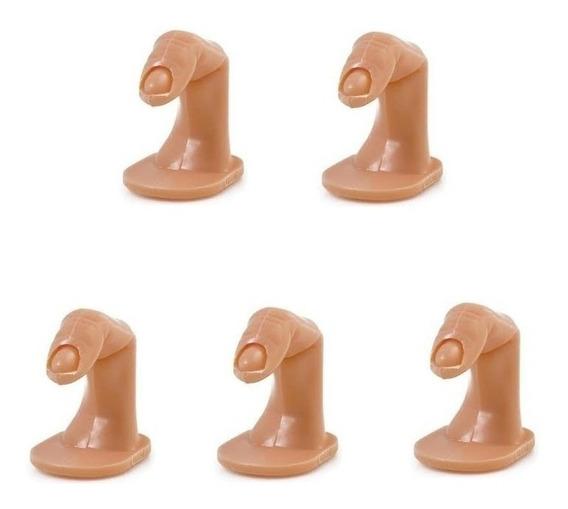 05 Dedo Postiço P/ Treino Manicure Plastico Unha Promoção