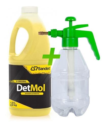 Imagem 1 de 4 de Shampoo 1,9l Lava Moto Off Road Detmol + Pulverizador Nfe *