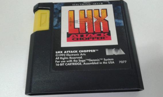 Cartucho Mega Drive Lhx Attack Chopper Ntsc/us
