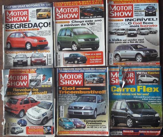 Lote Com 6 Revistas Motor Show