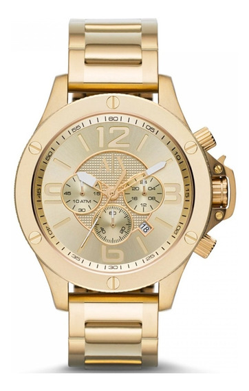 Relógio A Exchange Masculino Dourado Ax1504