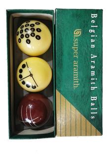 Set De 3 Bolas Carambola Aramith Profesional Super Aramith
