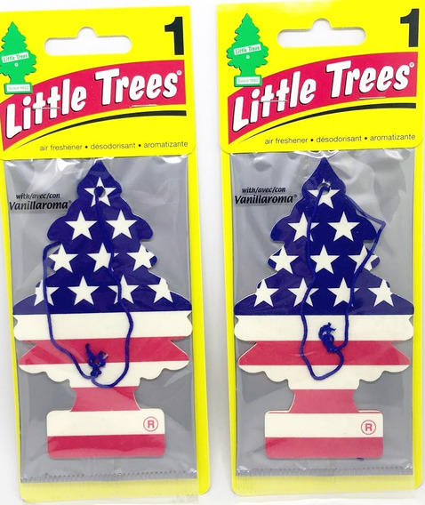 2 Little Trees Aromatizante Cheirinho Carro Vanilla Eua