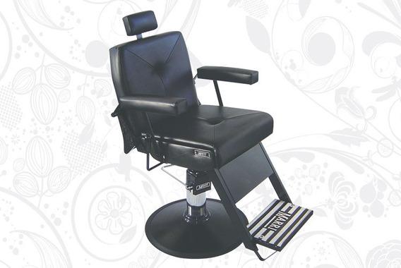 Cadeira De Babeiro Reclinável Milão Base Preta - Marri