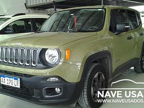 Jeep Renegade Sport 1.8 2016 Verde 5 Puertas