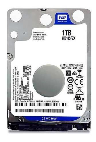 Hd Wd Blue 1tb 2.5 Notebook Sata Iii 6gb/s, Wd10spzx