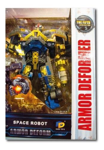 Transformers Robot C/ Luz Y Sonido Completo Accesorios