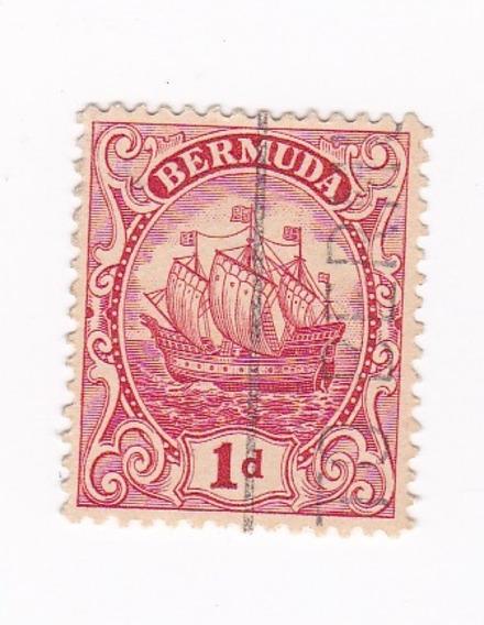 Lt296. Antiguo Sello De La Colonia Británica De Bermuda.1922