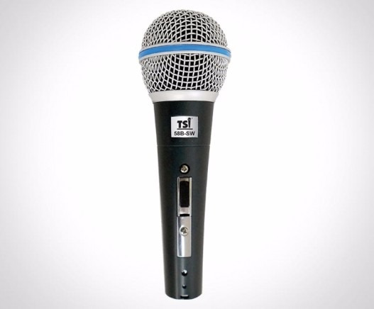Microfone Com Fio Tsi 58b Sw Chave Liga/desliga + Cabo