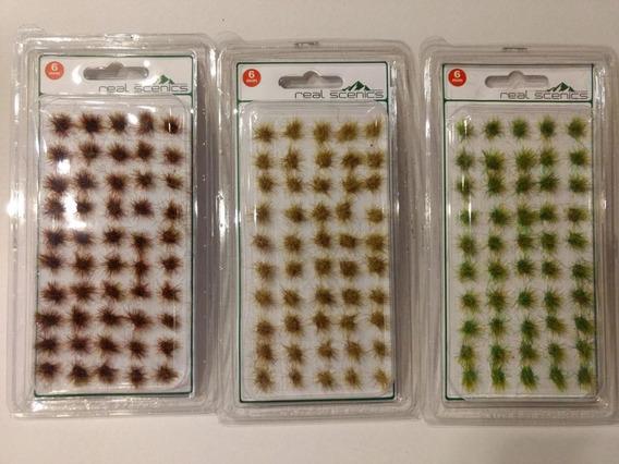 Grama Estática Maquete Mix 3 Modelos - Com 150 Arbustos