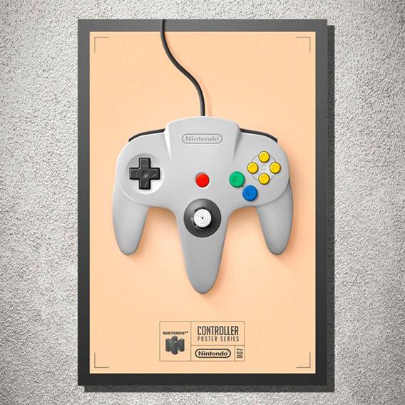 Placa Decorativa Controle Nintendo Decoração Retro Mdf