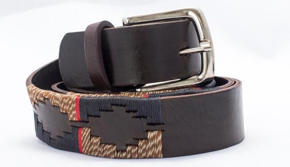 Cinto Cinturon Cuero Vacuno Bordado Hombre Arc2500