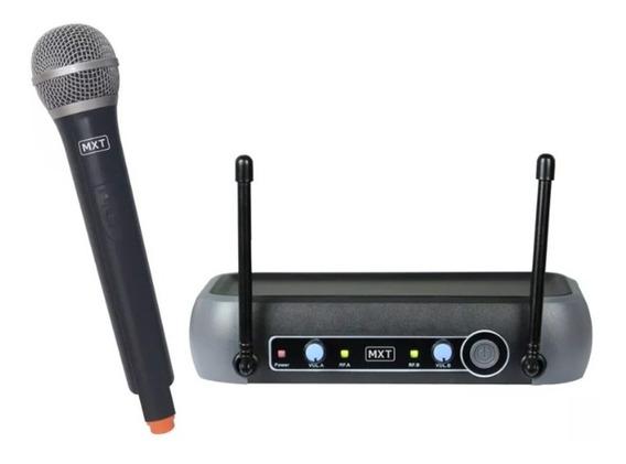 Microfone Profissional Sem Fio De Mão Mxt R201karaoke Igreja