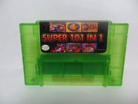 Super Nintendo Cartucho 101 Jogos Salvar Mario Final Fantasy