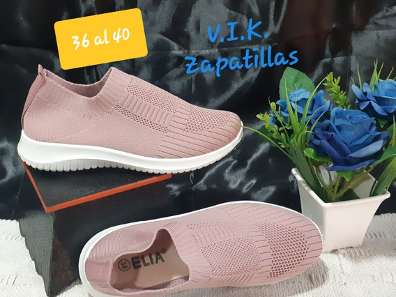 Zapatillas Elastizadas De Mujer