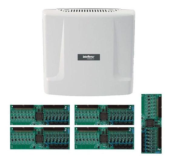 Kit Central Comunicação Intelbras Comunic 48 Placa 40 Ram Tf