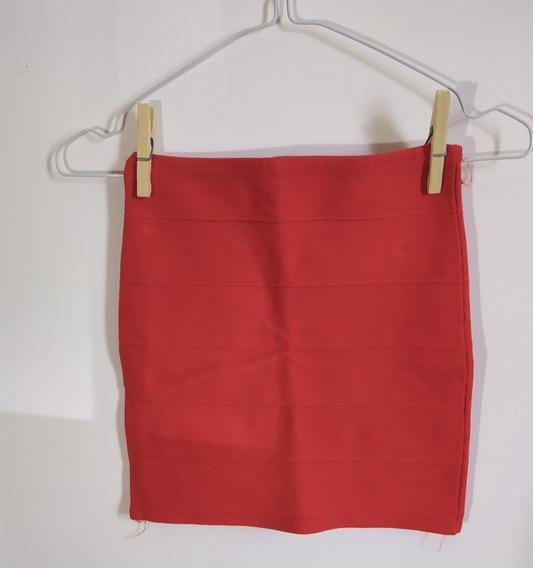 Minifalda Naranja Elastizada (usada)