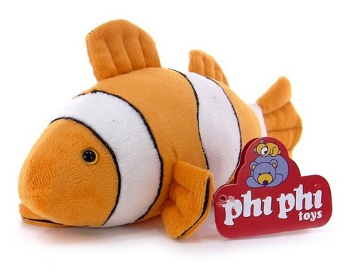 Peluche Animal Pez Payaso Real 28 Cm. Phi Phi Toys