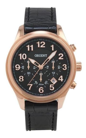 Relógio Orient Masculino Cronógrafo Mrscc07 P2px Rose Cour