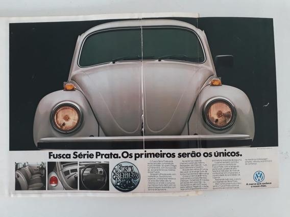 Propaganda Antiga Vw Fusca Série Prata Publicidade Coleção