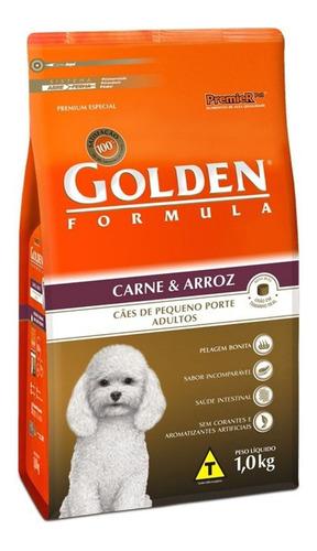 Ração Golden Premium Especial Formula para cachorro adulto da raça pequena sabor carne/arroz em saco de 1kg