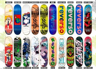 Patineta Tabla Reverso Skateboards Skate Con Lija Medida 8