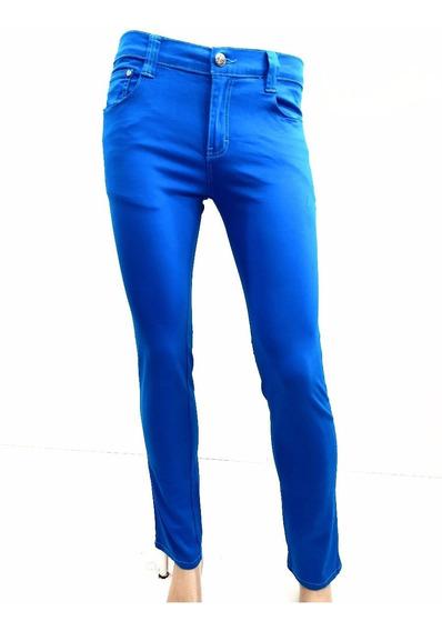 Pantalon Para Niño Skinny Gabardina Strech Azul Y Verde