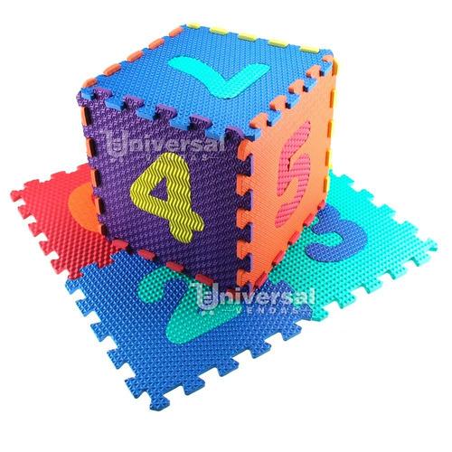 Imagem 1 de 6 de Tapete Brinquedo Puzzle Eva Infantil 10 Pçs Números 31x31