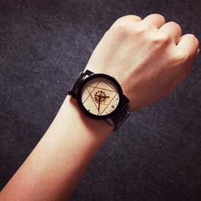Relógios Na Trendy Feminino Luxo Fino Pu Cinta Couro Redondo