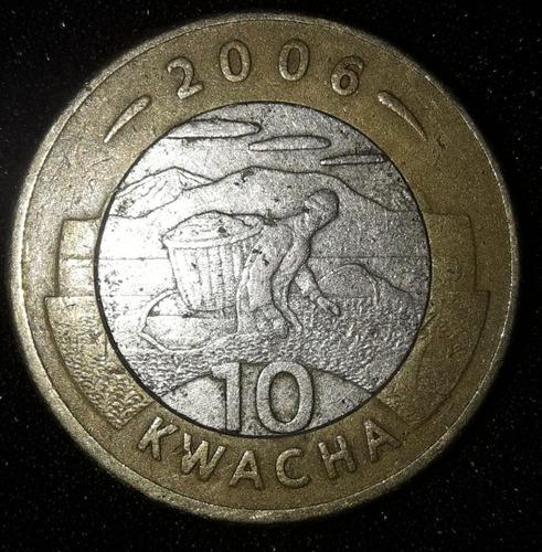 Imagem 1 de 3 de Moeda 10 Kwacha Ano 2006 Malawi