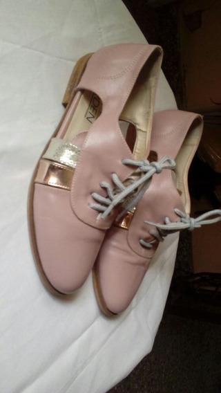 Zapato Acordonado Cuero N° 35