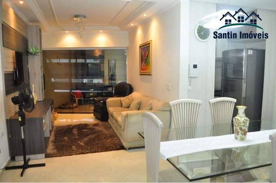 Sobrado De 130 M² Com 03 Dormitórios (sendo 01 Suíte) E Dormitório De Serviço À Venda, Por R$ 585.000 - Vila Curuçá - Santo André/sp - So0285